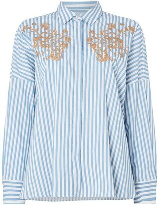 Marella Oidio long sleeve embroided shirt