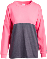 Soffe Neon Pink & Gray Heather Dolman Tee