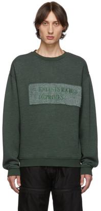 Enfants Riches Deprimes Green Nouveau Logo Sweatshirt