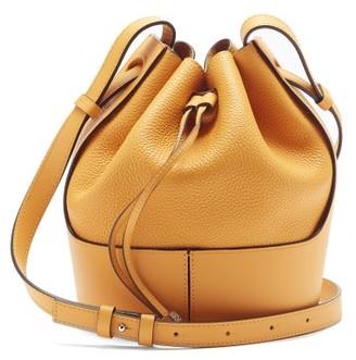 Loewe Balloon Small Grained-leather Bucket Bag - Yellow