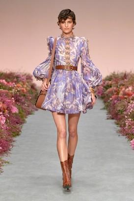 Zimmermann Long Sleeve Botanica Butterfly Mini Dress
