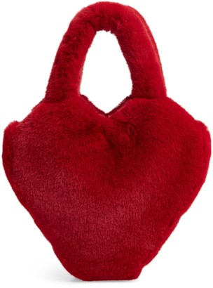 Halogen x Atlantic-Pacific Faux Fur Heart Bag