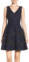 Adelyn Rae Illusion Tweed Dress