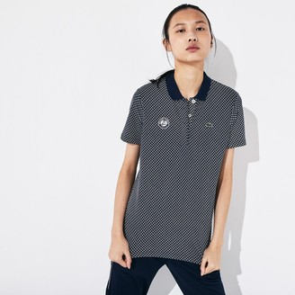 Lacoste Women's SPORT Roland Garros Printed Cotton Polo Shirt