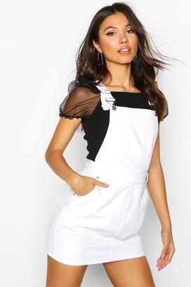boohoo Denim Overall Pinafore Dress
