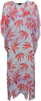 A Peace Treaty Leaf Print Beach Dress