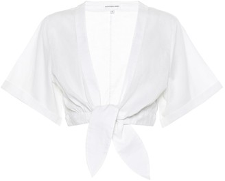 Alexandra Miro Sandy cotton crop top