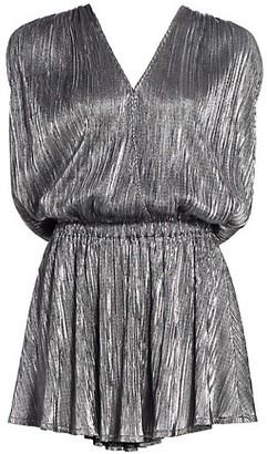 Ramy Brook Maya V-Neck Shine Dress