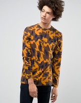Weekday Peter Print Long Sleeve Top