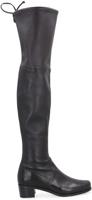 Stuart Weitzman Midland Stretch Leather Over-the-knee Boots