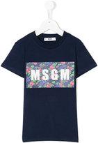 MSGM floral graphic logo T-shirt