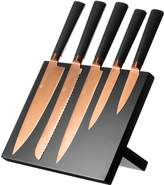 Viners Titanium Copper Knife Block (6 Piece)