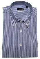 Valentino Men's Slim Fit Cotton Dress Shirt Pinstripe-blue-white.
