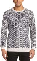 Samsoe & Samsoe Samsoe and Samsoe Men's Cofflet Aztec Crew Neck Long Sleeve Jumper