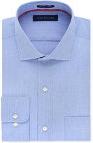 Tommy Hilfiger Men's Big & Tall Classic-Fit Non-Iron Blue Fine Stripe Dress Shirt