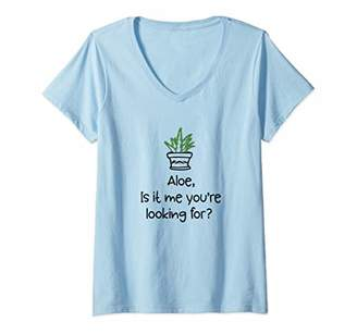 Alöe Womens Funny Is it Me you're Looking For Plant Gift V-Neck T-Shirt