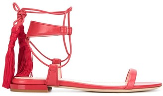 Lanvin tasseled flat sandals