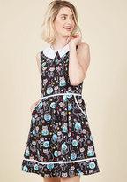Rad to the Bone A-Line Dress in Feline in XL