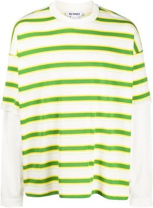 Sunnei striped layered T-shirt