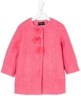 MonnaLisa collarless bouclé coat
