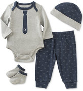 Calvin Klein 4-Pc. Hat, Bodysuit, Pants & Socks Layette Set, Baby Boys (0-24 months)
