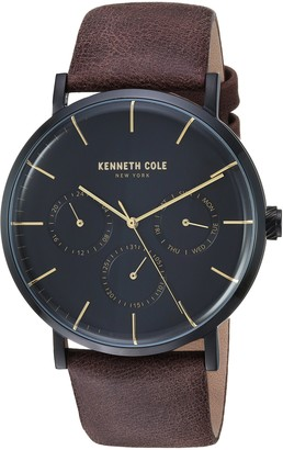 Kenneth Cole New York Men's Stainless Steel Analog-Quartz Watch with Leather Strap Brown