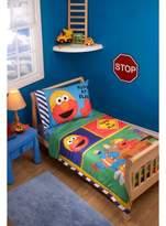 Sesame Street ; Green & Blue Bedding Set (Toddler) 4pc