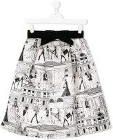 Elisabetta Franchi La Mia Bambina printed skirt