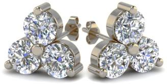 LeVian Suzy 14K 0.60 Ct. Tw. Diamond Cluster Studs