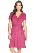 Ellen Tracy Faux Suede A-Line Dress