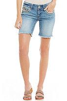 Vigoss Jeans Chelsea Frayed Hem Bermuda Shorts
