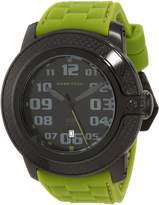 Glam Rock Men's GR33001 SoBe Black Dial Green Silicon Watch