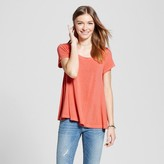 Mossimo Women's Scoop T-Shirt Coral