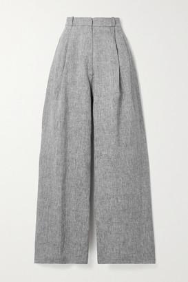 Miguelina Ainsley Linen Wide-leg Pants - Dark gray