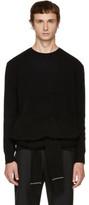 Neil Barrett Black Double Sleeve Wrap Sweater