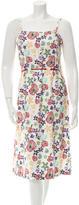 Suno Floral Midi Dress
