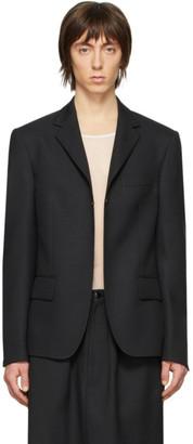 Random Identities Black Buttonless Blazer