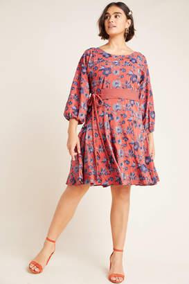 Anthropologie Juniper Embroidered Swing Dress