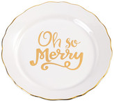 Mud Pie White Oh So Merry Plate