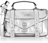 Proenza Schouler The Ps1 Tiny Metallic Leather Satchel - Silver