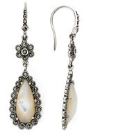 Mother of Pearl FINE JEWELRY Marcasite and Mother-of-Pearl Drop Earrings