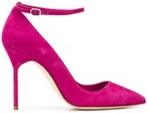 Manolo Blahnik ankle strap stiletto pumps