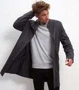 New Look Grey Cotton Longline Bomber Jacket