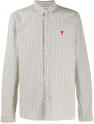 Ami De Coeur patch button-down shirt