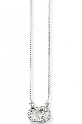 Thomas Sabo Jewellery Ladies Sterling Silver TOGETHER FOREVER NECKLACE KE1488-051-14-L45V