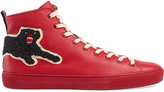 Gucci Leather high-tops with Panthers