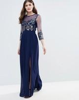 Little Mistress Embellished Sheer Maxi Dress