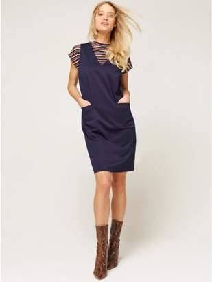M&Co Sleeveless pinafore dress