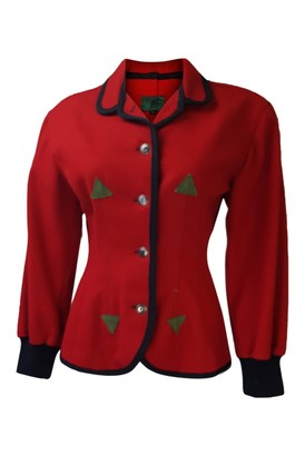 Jean Paul Gaultier Red Wool Jackets