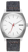 Nixon Women's 'Time Teller' Quartz Metal and Cloth Automatic Watch, Color:Grey (Model: A0452476-00)